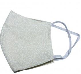 Máscara Lavável - Mais Care - Tecido Tricoline - Reutilizável com Estampa Creme - Unidade
