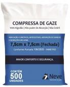 Curativo - Neve - Compressa de Gaze Não Estéril - 11 Fios - 500 unidades