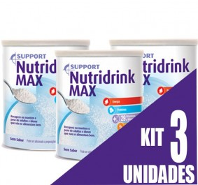 Suplemento - Danone - Nutridrink Max Pó 350g - Kit 3 unidades