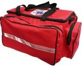 Bolsa de Primeiros Socorros - ResgateSP - Tecido Verona - Vermelha