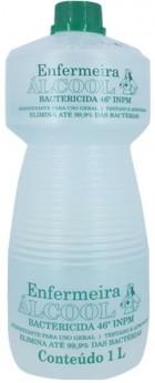 Álcool Líquido - Enfermeira - Bactericida - 46% - 1L