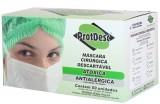 Máscara Tripla - ProtDesc - Proteção Antibacteriana - Branca - 50 unidades