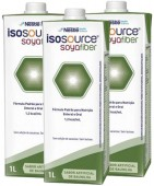 Dieta Enteral - Nestlé - Isosource Soya Fiber 1Litro - Kit 12 unidades
